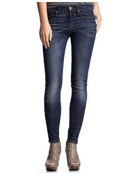 Gap Legging jeans (faded dark wash)