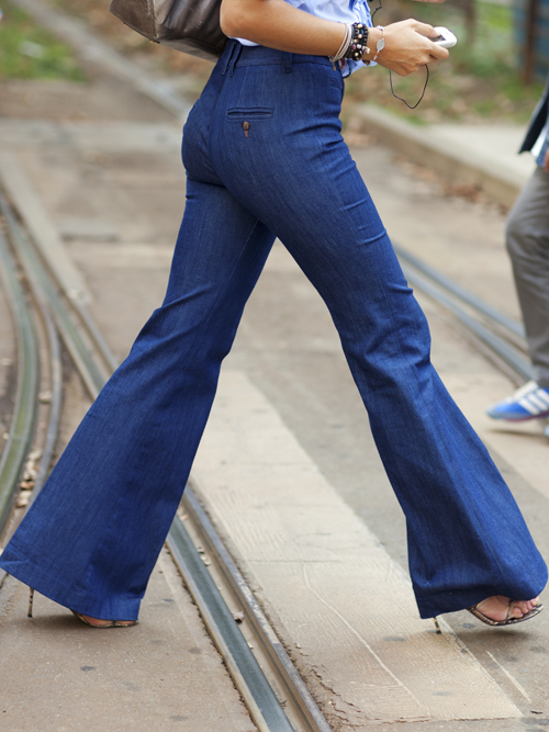 The Sartorialist Wide Leg Jeans