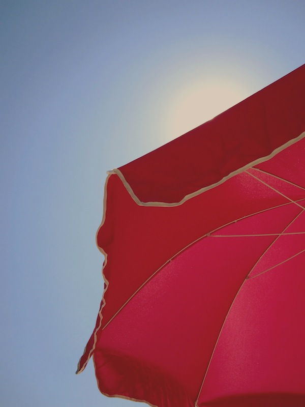 Pink Beach Umbrella