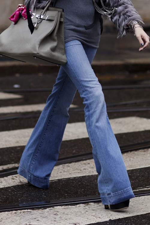Flare Jeans via The Sartorialist