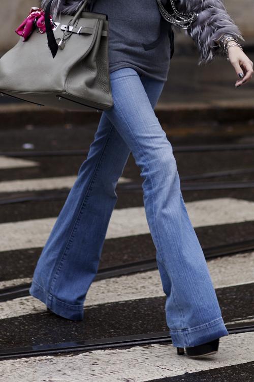 Flare Jeans via The Sartorialist