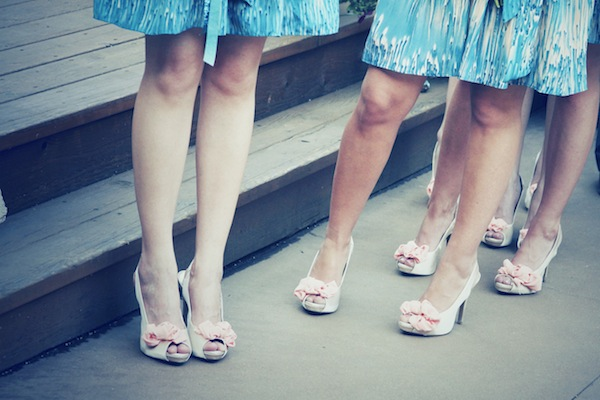 Bridesmaid Shoes at a May Wedding
