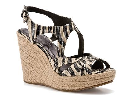 Zebra Wedge Sandals