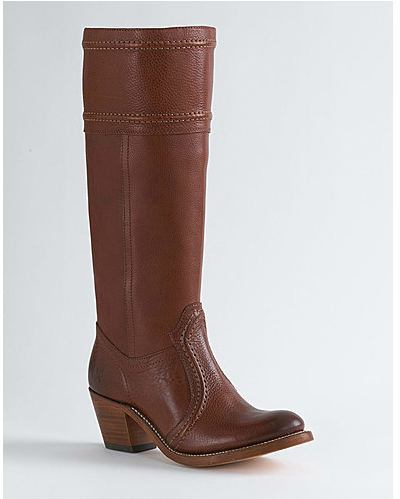 Frye Jane Leather Boots Redwood