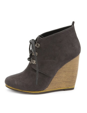 Charlotte Russe Wedge Booties