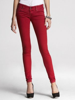 Express Red Jeans