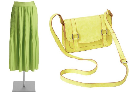 Bright Skirt and Purse